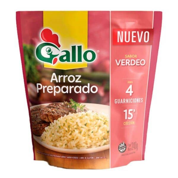 Gallo Arroz Preparado Sabor Verdeo 240gr