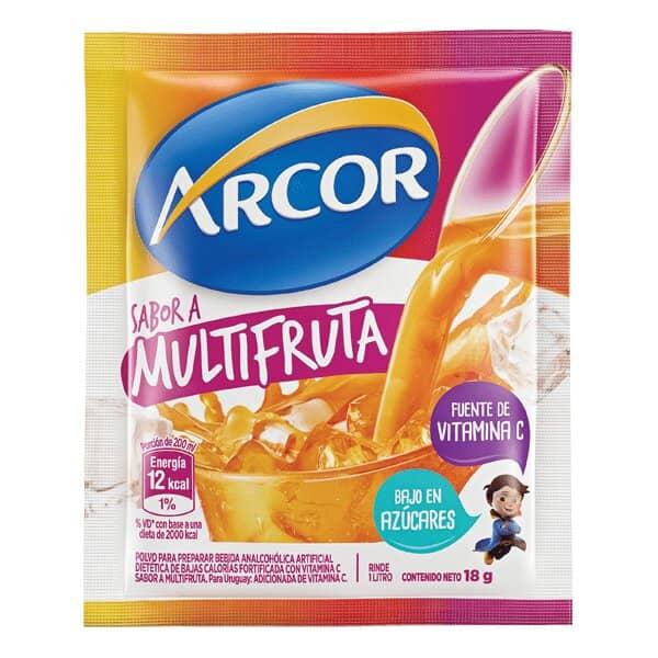 Arcor Jugo en Polvo Sabor a Multifruta Bajo en Azucares 18gr