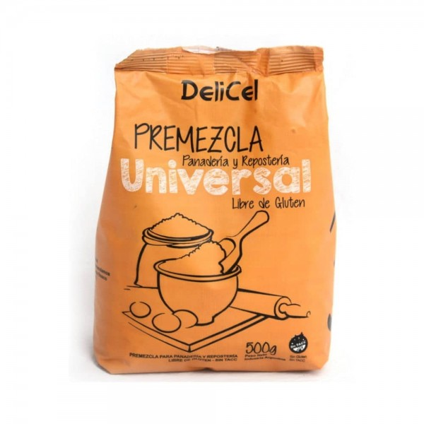 Delicel Premezcla Universal Para Panaderia y Reposteria 500gr