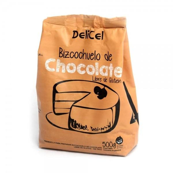 Delicel Premezcla Para Preparar Bizcochuelo de Chocolate 500gr