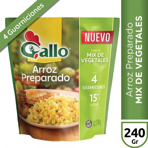 Gallo Arroz Preparado Sabor Mix De Vegetales 240gr