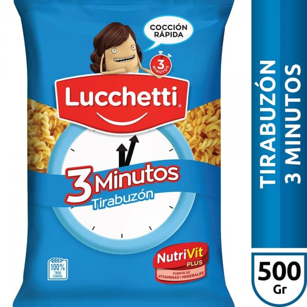 Lucchetti Fideos Tirabuzon 3 Minutos 500gr