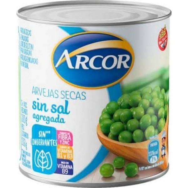 Arcor Arvejas Secas Sin Sal Agregada Sin Conservantes 300gr
