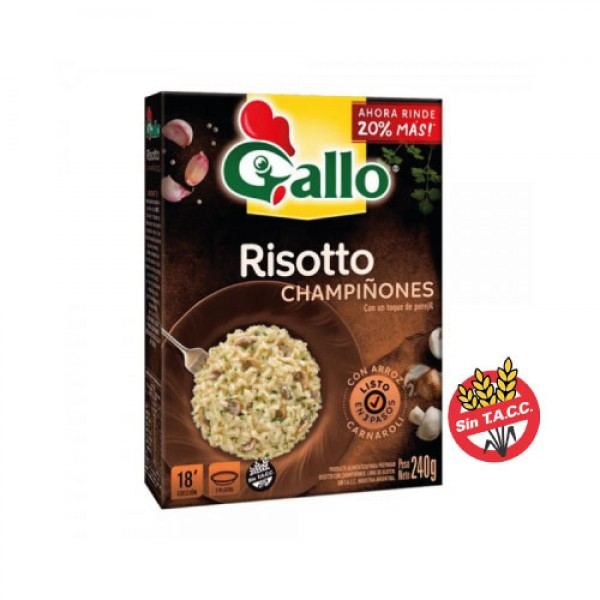 Gallo Risotto Champiñones Con Arroz Carnaroli 240gr