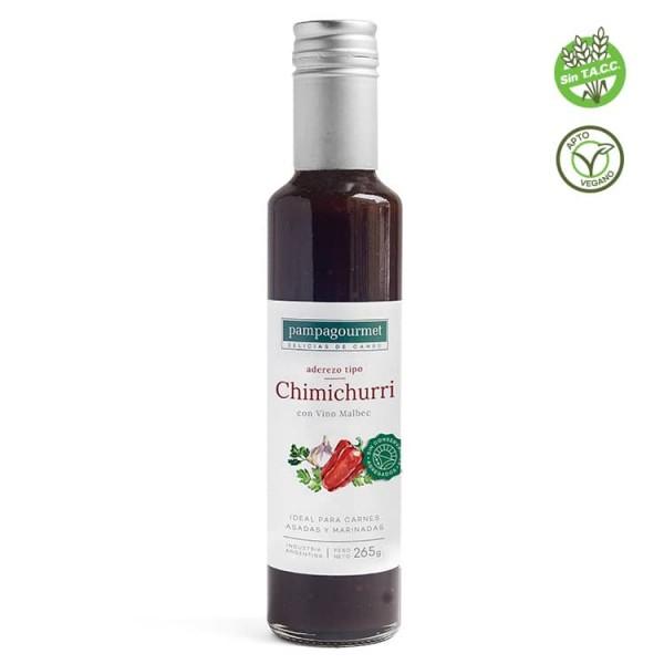 Pampagourmet Aderezo Tipo Chimichurri Con Vino Malbec 265gr