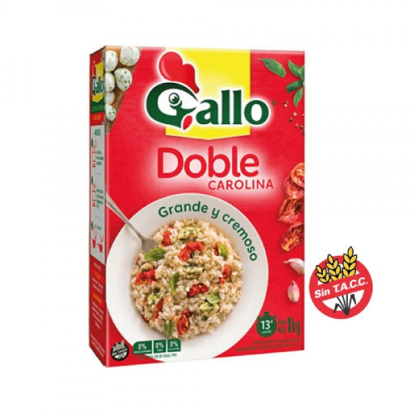 Gallo Arroz Doble Carolina Grande Y Cremoso 1kg