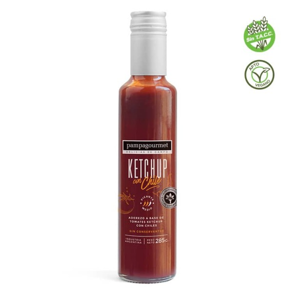 Pampagourmet Ketchup Con Chile 285gr