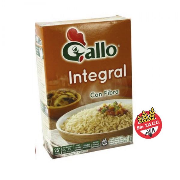 Gallo Arroz Parboil Tipo Largo Fino Integral Con Fibra 1kg