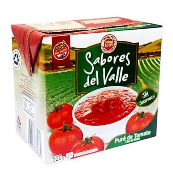 Sabores Del Valle Puré  De Tomate 520gr