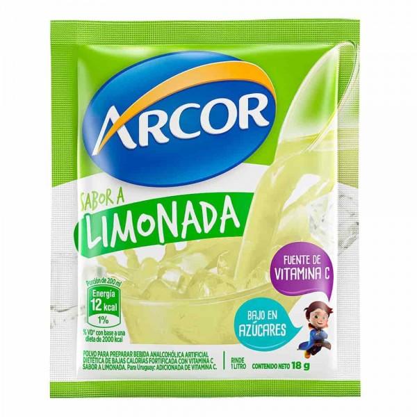 Arcor Jugo En Polvo Sabor A Limonada Bajo En Azúcares 18gr
