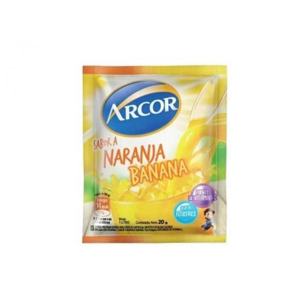 Arcor Jugo En Polvo Sabor A Naranja-Banana 20gr
