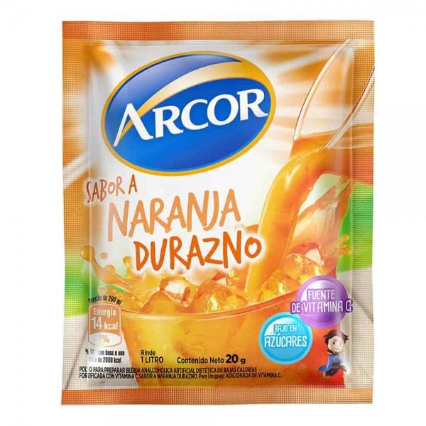 Arcor Jugo En Polvo Sabor A Naranja-Durazno 20gr