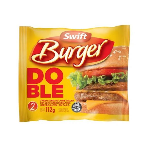 Swift Burguer Hamburguesas Doble 2 Unidades 112gr