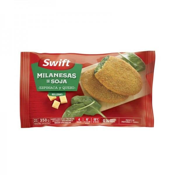 Swift Milanesas de Soja Rellenas con Espinaca y Queso 4 Unidades 350gr