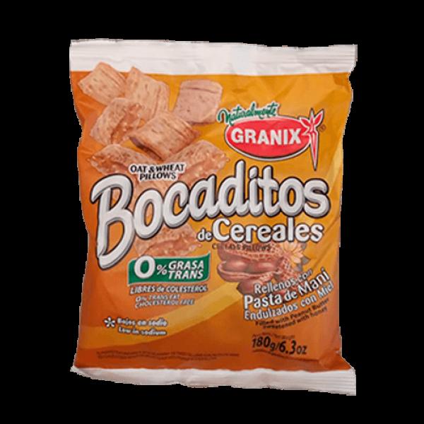 Granix Bocaditos De Cereales Rellenos con Pasta de Mani 180gr