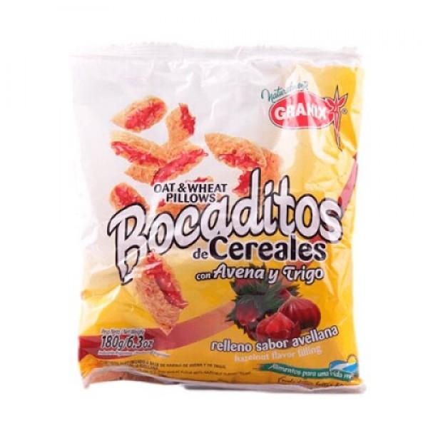 Granix Bocaditos De Cereales Con Avena Y Trigo Relleno Sabor Avellana 180gr
