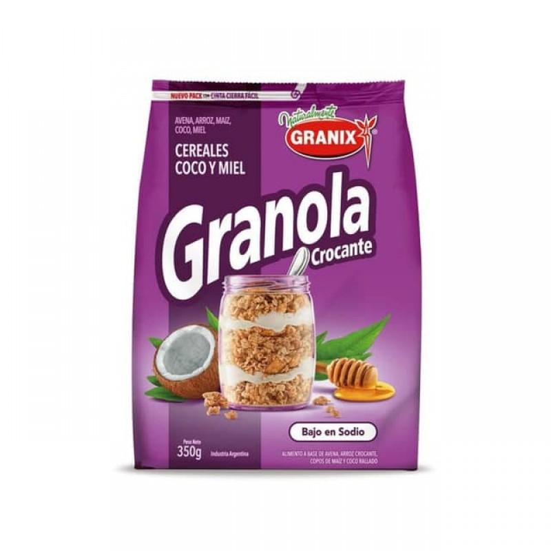Granix Granola Crocante Cereales Coco Y Miel 350gr
