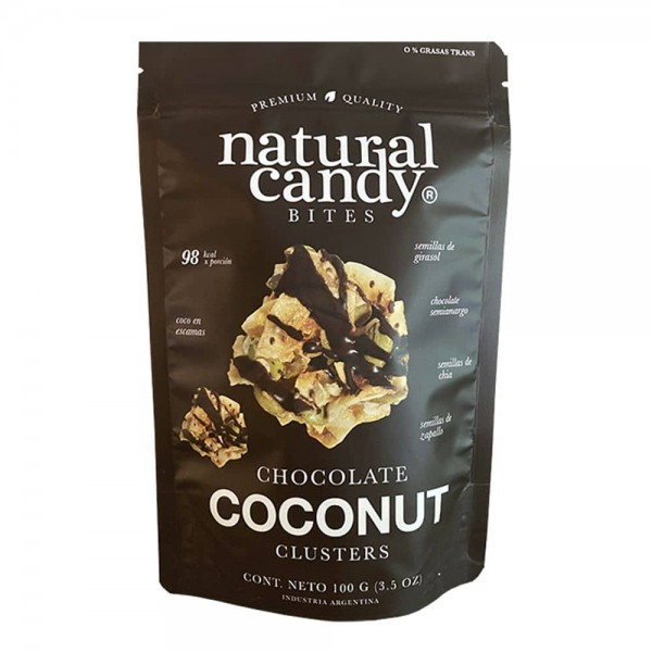 Natural Candy Bites Chocolate Coconut 100gr