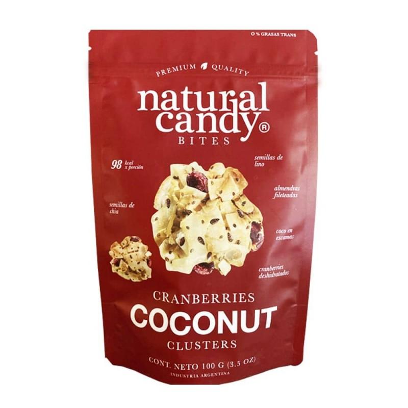 Natural Candy Bites Cranberries Coconut 100gr