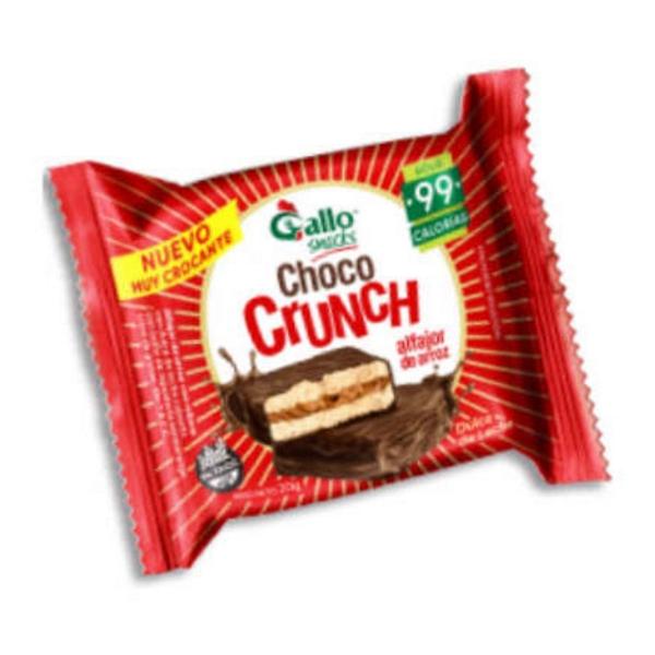 Choco Crunch Alfajor de Arroz Relleno Dulce de Leche 20gr