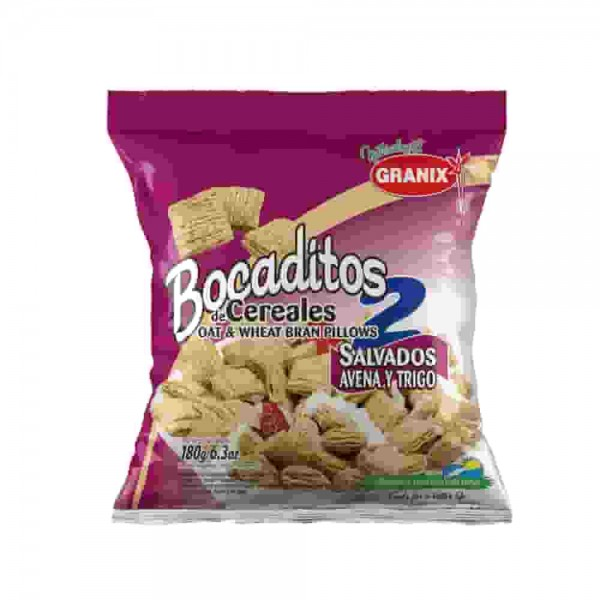 Granix Bocaditos De Cereales Salvados Avena Y Trigo 180gr