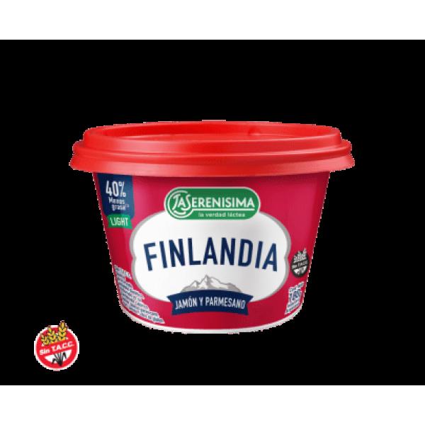 Finlandia Queso Untable Procesado Jamón y Parmesano 180gr