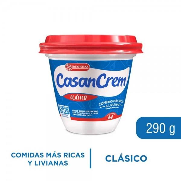 Casancrem Queso Crema Clásico Con Vitaminas A y D 290gr