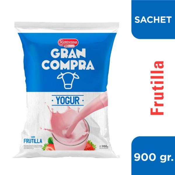 Gran Compra Yogur Bebible Fortificado con Vitamina A y D Sabor Frutilla 900gr