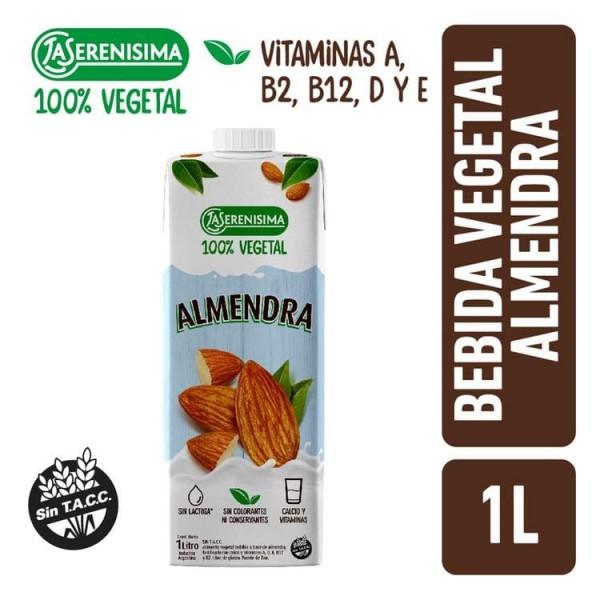 La Serenisima Alimento Vegetal Bebible A Base de Almendra 100% Vegetal 1L