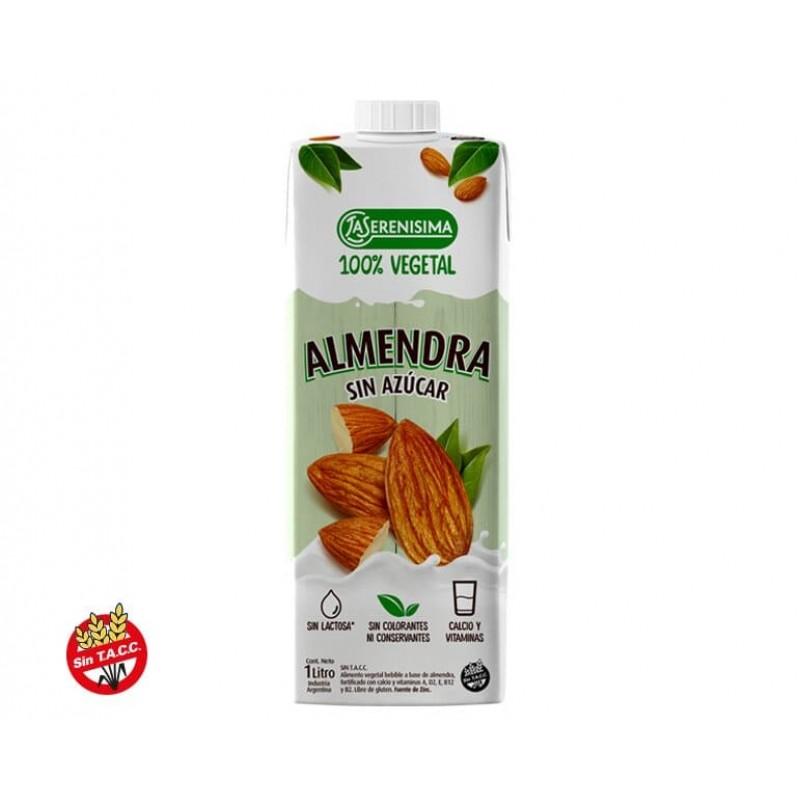 La Serenisima Alimento Vegetal Bebible A Base de Almendra Sin Azúcar 100% Vegetal 1L