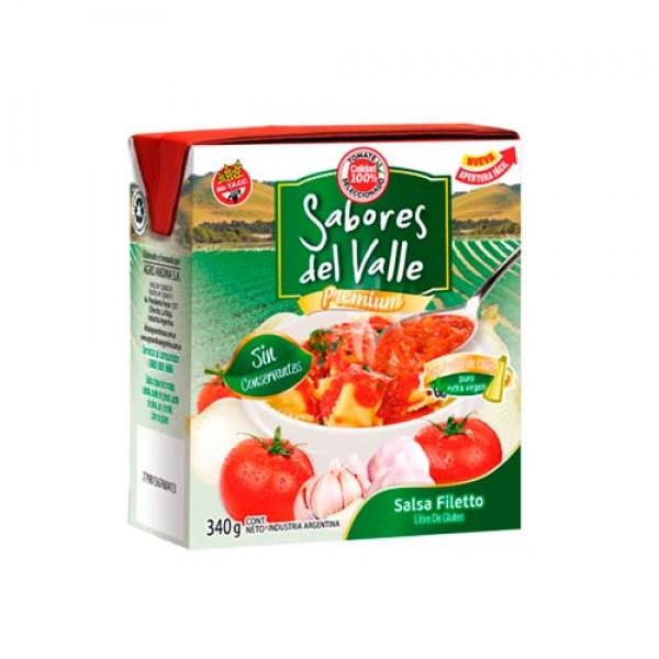 Sabores Del Valle Salsa Filetto Premium 340gr
